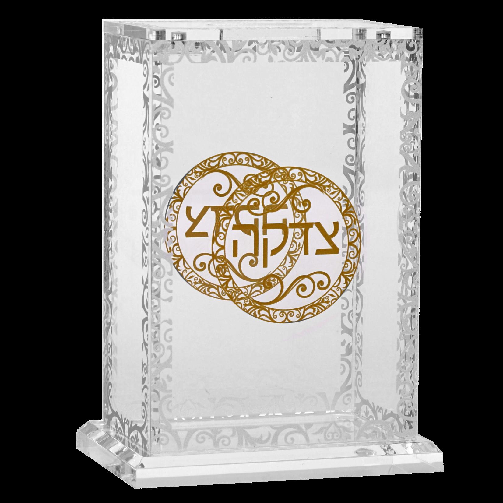 182031 Acrylic Charity Box Royal Design