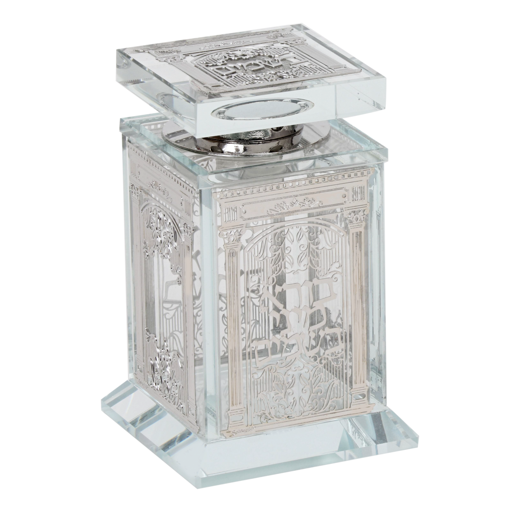 161016 Crystal Besomim Holder With Silver Plate