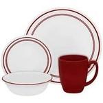 Corelle CORELLE SET CLASSIC, CAFE RED Service For 4