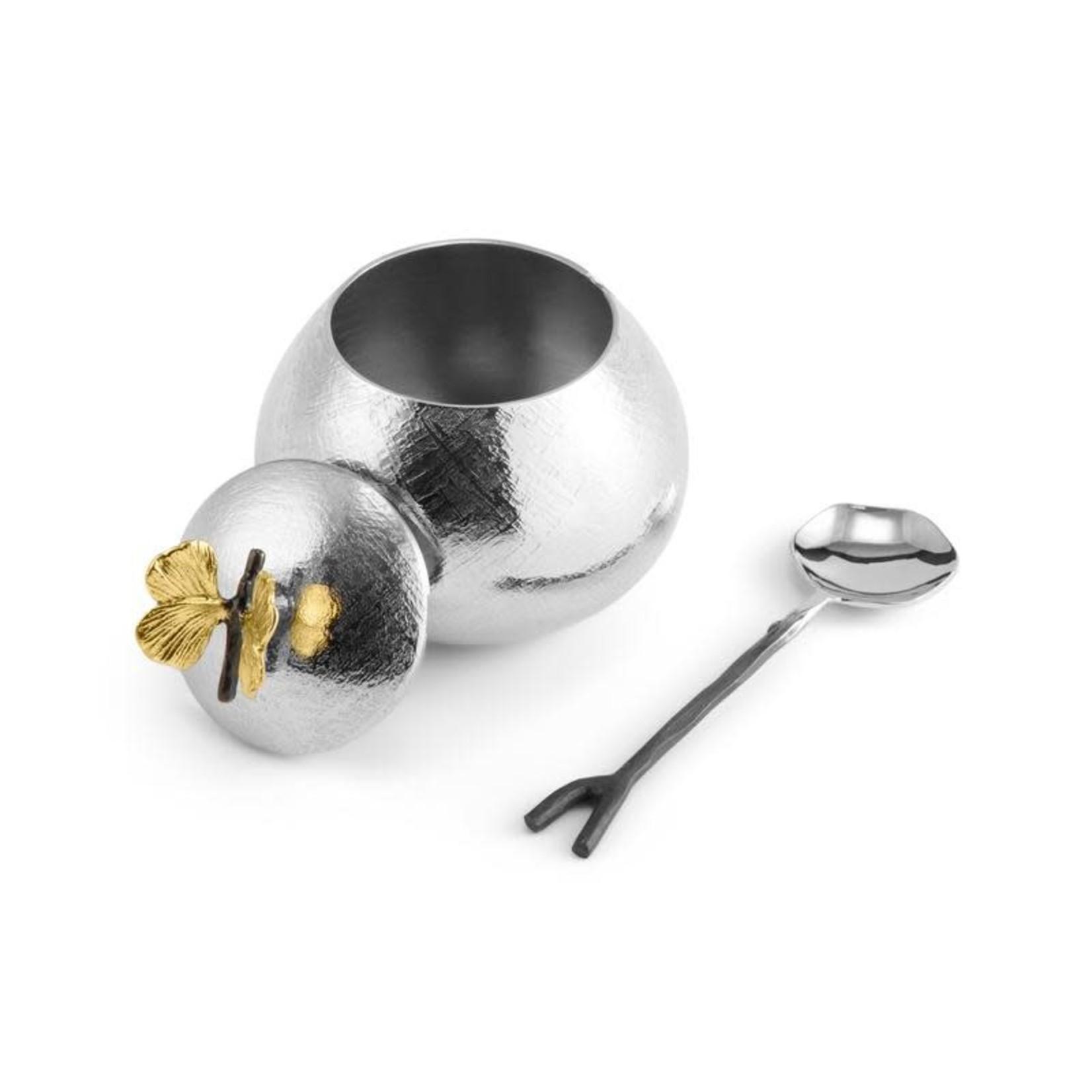 175746 Butterfly Ginkgo Pot w/ Spoon