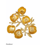Apple Six Sectional Simonim Tray Gold