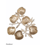 Apple Six Sectional Simonim Tray Silver