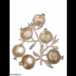 Pomergranate Six Sectional Simonim Tray Silver