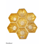 Honeycomb Seven Sectional Gold