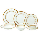 SONIA Dinnerware- Service For 4 With Xtra Fish Plate