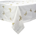 BTF-72X188 SPILL-PROOF METALIIC BUTTERFLY TABLECLOTH 72X188