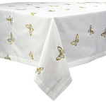 BTF-72X108 SPILL-PROOF METALIIC BUTTERFLY TABLECLOTH 72X108