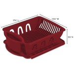 DISH DRAINER SET-LARGE-RED