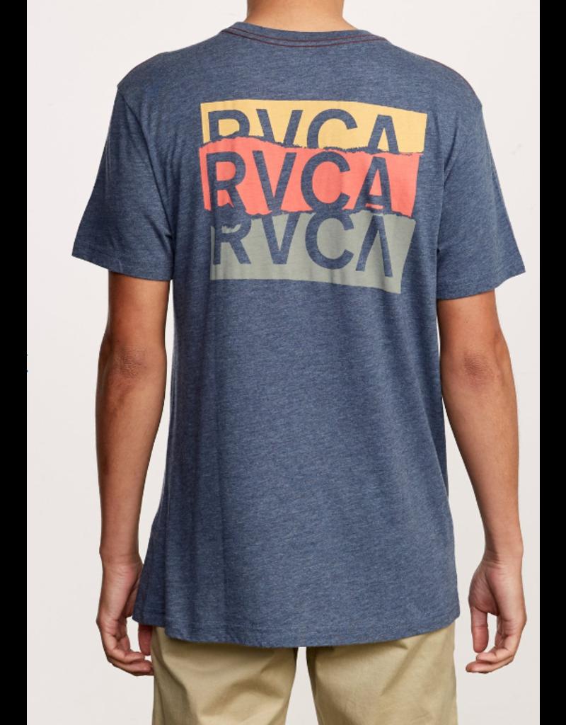 RVCA Overlap Tee - Moody Blue