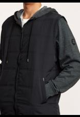 RVCA Logan Puffer Jacket – Black/Grey