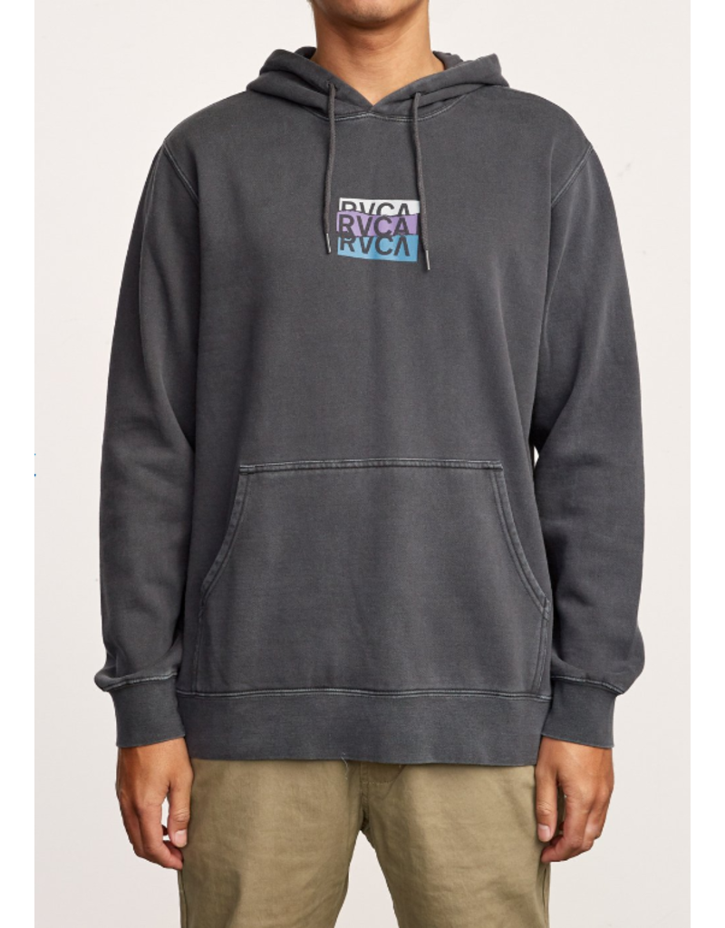 RVCA Bengal Stack Pigment Hoodie – Pirate Black