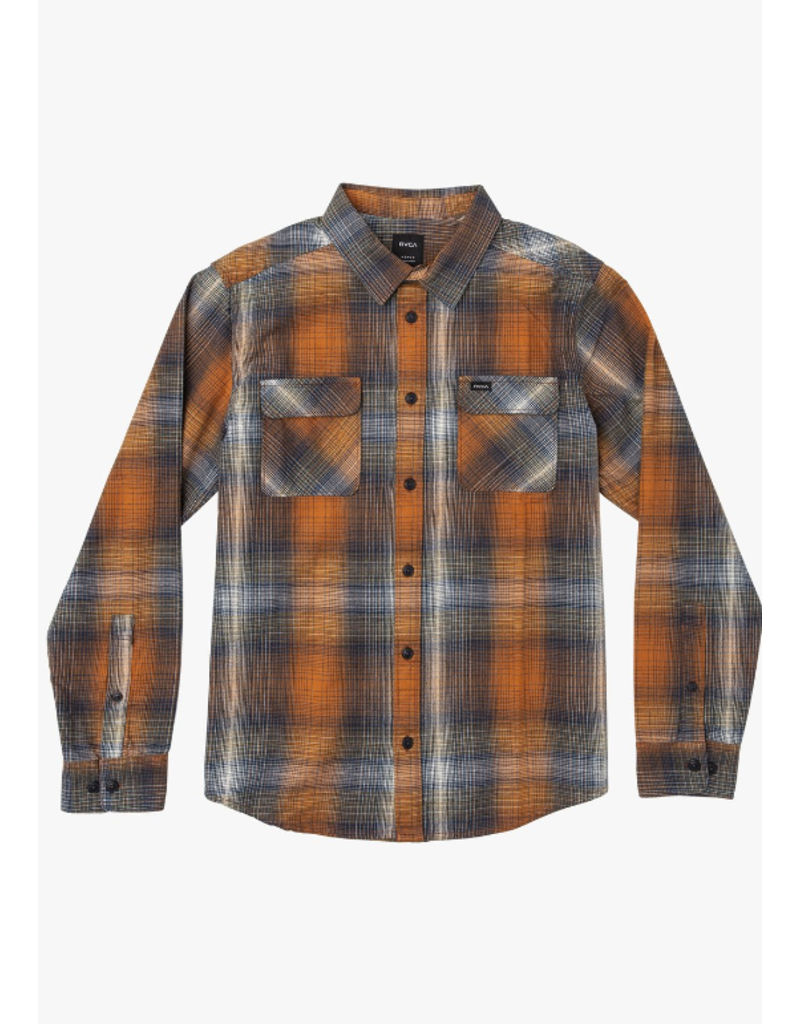 RVCA Muir Flannel – Rust Orange