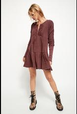 Free People Jolene Mini Dress - Wine