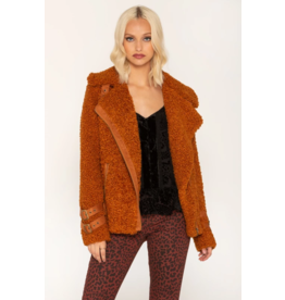 Miss Me Faux Shearling Moto Jacket