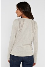 V Neck Sweater w/Distressed Detail