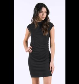 Lira Rouched Dress - Black