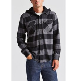 Brixton Bowery Hooded Flannel - Black/Heather
