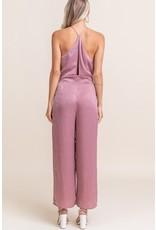Lush Jumpsuit with Tie Back - Mauve