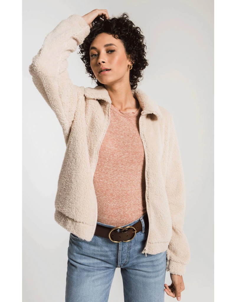 Z Supply Sherpa Crop Jacket - Pearl