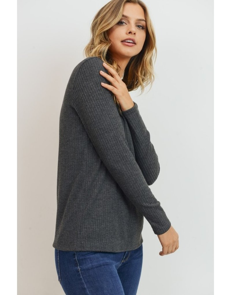 Semi Fitted Ribbed Top