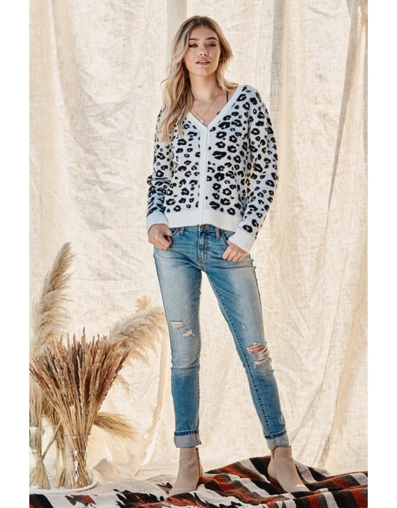 Leopard Button Up Cardigan