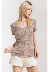 Z Supply Mini Leopard V Neck