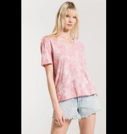 Z Supply Cloud Tie Dye Tee - Pink