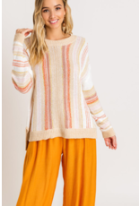 Lush Stripe Sweater - Pink