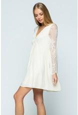 Lace Mini Dress - Ivory