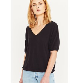 Project Social T Short Sleeve Knit Top - Black