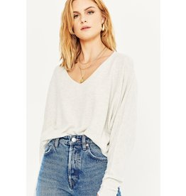 Project Social T Seamed Dolman Sleeve Top - Oatmeal