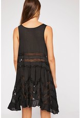 Free People Voile Trapeze Dress - Black