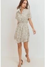 Floral Print Button Up Dress