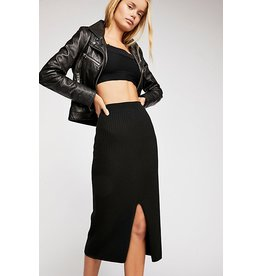 Free People Skyline Midi Skirt - Black