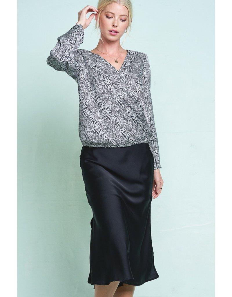 Silk Skirt - Black