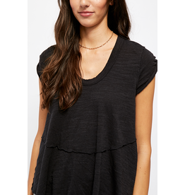 Free People Sweetness Tee - Black