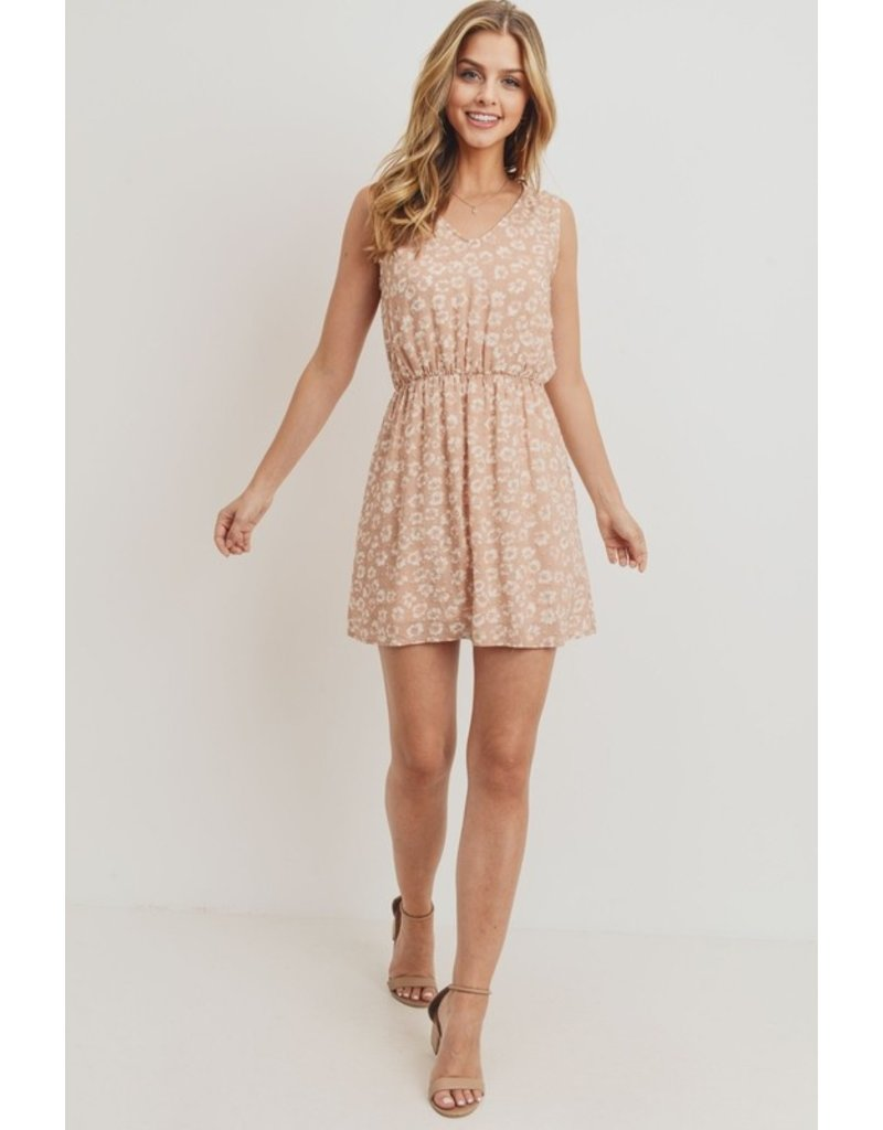 Swiss Dot Floral Dress - Blush