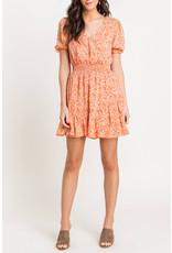 Lush Light Coral Floral Dress