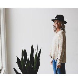 Lush V-Neck Sweater - Cream