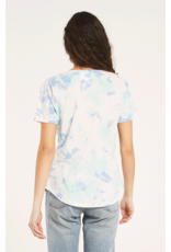 Z Supply Hazy V Neck Tee - Aqua Reef