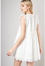 Eyelet Lace Romper - White