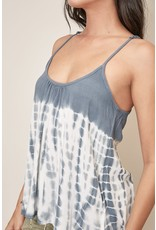 Tie Dye Tank - Washed Navy