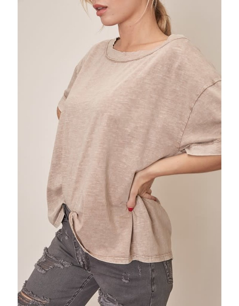 Boat Neck Top - Taupe