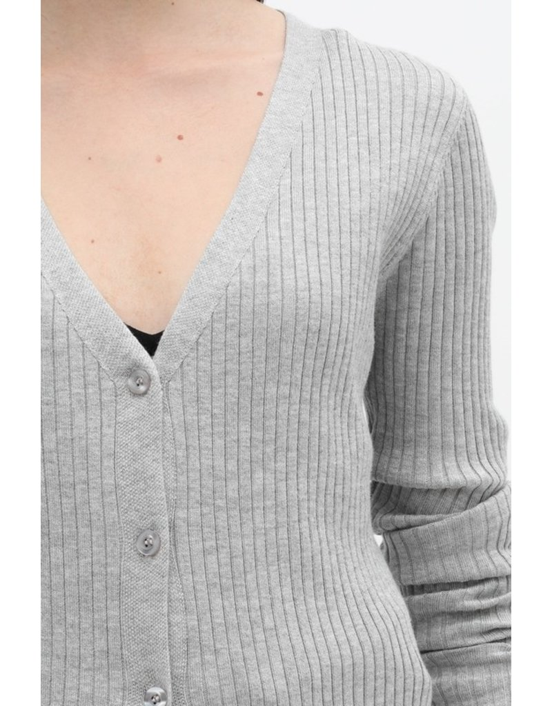 Ribbed Cardigan - Grey