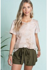 Relaxed Tee - Tie Dye Taupe
