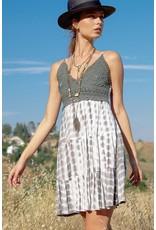 Bralette Tie Dye Dress - Olive