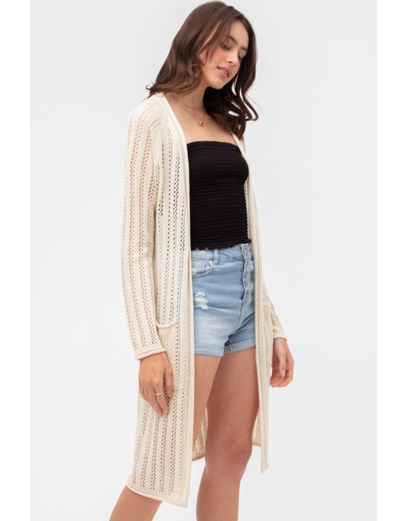 Open Weave Sweater - Natural