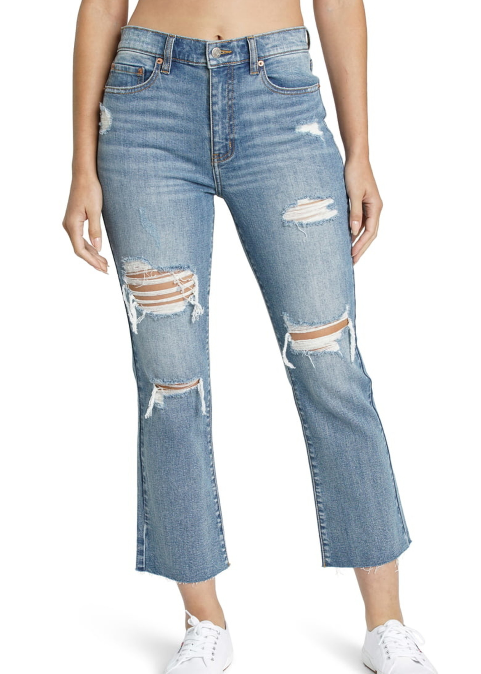 Daze Shy Girl High Rise Crop Flare - Hot Spot
