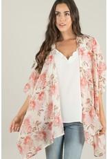 Kimono - Cream/Pink Rose