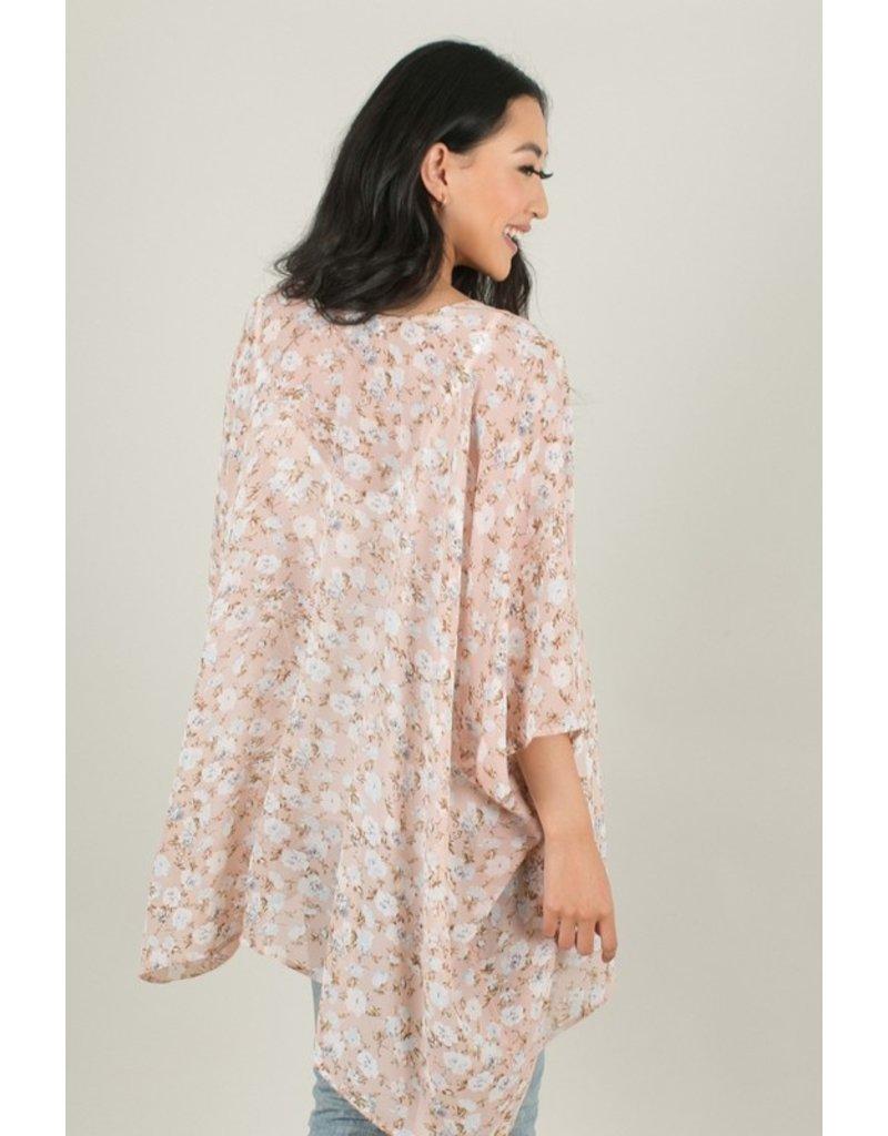 Kimono - Beige/Vintage Rose